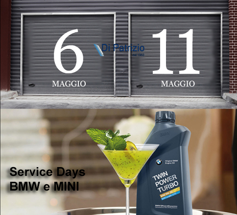 6-11 Maggio. BMW Welcome e MINI garage Days.